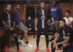 Camisa PSG Jordan Preta 19/20 - Aceitamos cartoes!