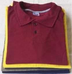 Camisa gola polo kit com 10 camisas por 160.00 reais