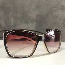 Óculos de sol grande, marrom - usado