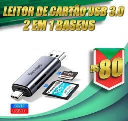 Leitor de cartões 2 em 1 USB 3.0 BASEUS