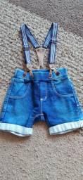 Linda bermuda jeans menino tamanho P