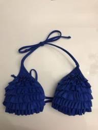 biquíni fru-fru azul G