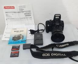 KIT Câmera CANON + Lente + acessórios originais