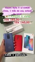 Xiaomi RedMi Note 9 4/128GB Cinza zero
