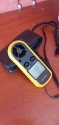 Anemometro Digital Medidor Da Velocidade Do Vento Termometro