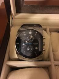 Relógio Diesel Cronógrafo pulseira de couro V/T