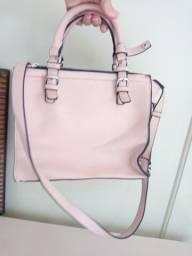 Bolsa rosa Forever 21 com bolsa interna duas alças