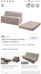 Sofá cama em espuma