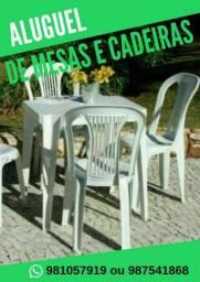 """""""ALUGUEL DE MESAS E CADEIRAS """""""