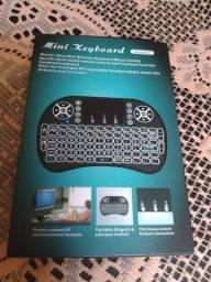 Mini teclado touchpad usb c/led