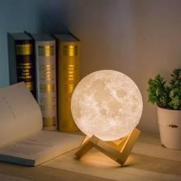 Linda Luminária Lua Cheia - Decoração LED