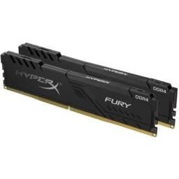 Memória HyperX Fury, 16GB (2x8GB), 2666MHz, DDR4, CL16 10 anos de garantia