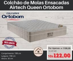 Colchão de Molas Ensacadas Queen Airtech SpringPocket Ortobom
