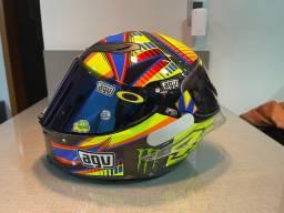 Capacete Agv pista Valentino Rossi