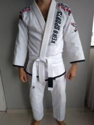 Kimono Jiu Jitsu Keiko Raça Seminovo tamanho A2 Branco
