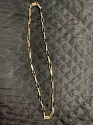 Cordão de moeda antiga folheado a ouro 18k