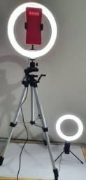 Ring light+Tripé+ ring de 6 polegadas