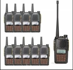 <br>Kit 10 Rádio Ht Comunicador Baofeng Dual Band Uv-82 Rádio Fm<br>