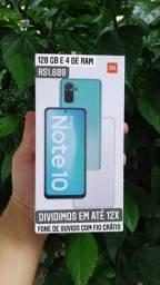 Xiaomi Redmi Note 10 + Fone de Ouvido Grátis