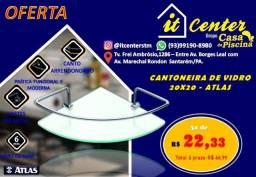 Cantoneira de vidro 20x20