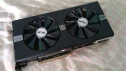 Placa de vídeo RX 580 4Gb Sapphire Nitro+ com Fonte lacrada XPG Pylon 650w