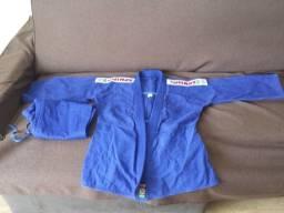 Kimono de Judo Shiroi Trançado Tamanho A1 Azul novo