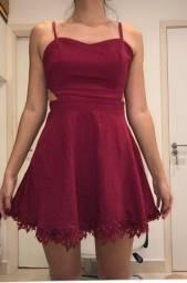 Vestido rosa/vinho my place tamanho P