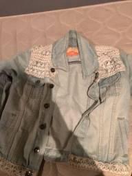 Jaqueta jeans com bordado