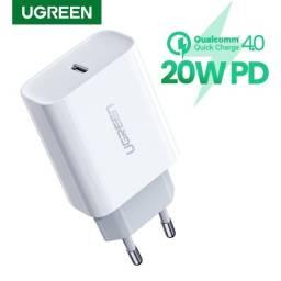 Carregador rápido/turbo Ugreen 20w (Iphone, Samsung, Xiaomi, IPad)