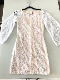 Vestido de Renda Branco Love Luxo