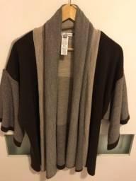 Casaco de lã, tipo cardigan ou sobreposição