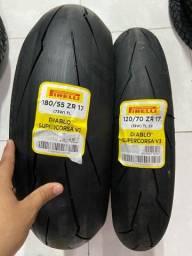 Par pneus Supercorsa 180/55-17 ,120/70-17 Pirelli