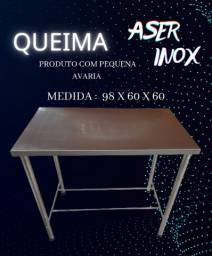 Título do anúncio: Mesa  100%  inox