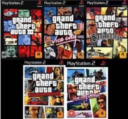 Coleção GTA de PS2