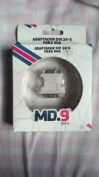 Adaptador DVI para VGA.
