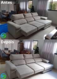 Limpeza de estofados, sofá, poltrona, cadeira, colchão, pulf e estofado de carro