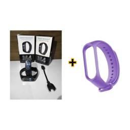 Smartwatch M4 pulseira Ips tela Inteligente/ + pulseira grátis