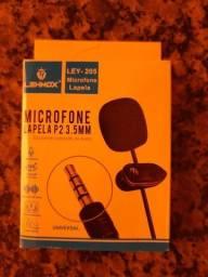 Microfone De Lapela (Novo) P/ Celular Smartphone iPhone Youtubers
