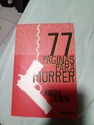Livro 77 páginas para morrer.