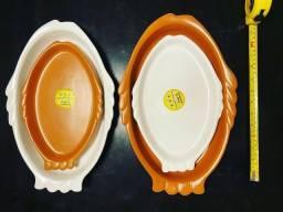 Travessa de Ceramica Peixe - Vila Rica (Freezer, Forno, Mesa)