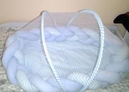 Ninho trancado com mosquiteiro
