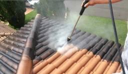 Lavagem de telhado e pisos