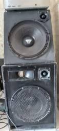 Kit Som com Mesa de som, máquina e caixas
