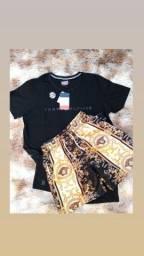 Kit com 1 camiseta + 1 cueca + 1 bermuda Maurícinho