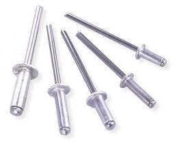 Caixa Rebites em Alumínio 4,8 x 12 mm com 1000 Unidades -
