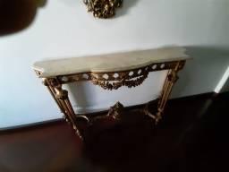 Aparador Luís XV com espelho e tampo mármore
