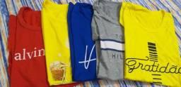Lote com 05 camisas T-shirt