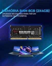 Memória RAM 8GB (2x4GB) DDR4 2400MHz para notebook.