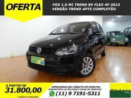 Vw - Volkswagen Fox 1.0 MI Trend 8v Flex 4p Completo Ótimo Estado 78.300 Kms - 2013