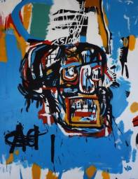 Pintura do artista plástico recifense Jefferson Pacheco. Releitura Jean-Michel Basquiat
